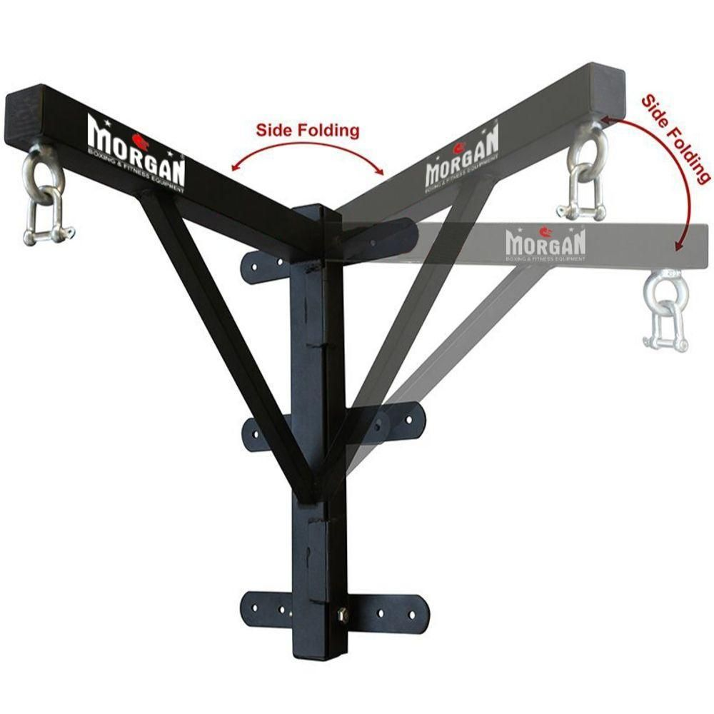 Black Heavy Duty Boxing Punch Bag Standard Wall Mount Bracket Holds Up To 100KG
