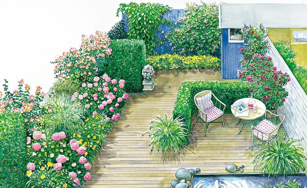 Ein Vorgarten wird zum Gartenzimmer Gardens