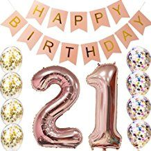 st birthday decorations party supplies balloons rose gold st bannertable confetti decorations st ts for heruse also rh in pinterest