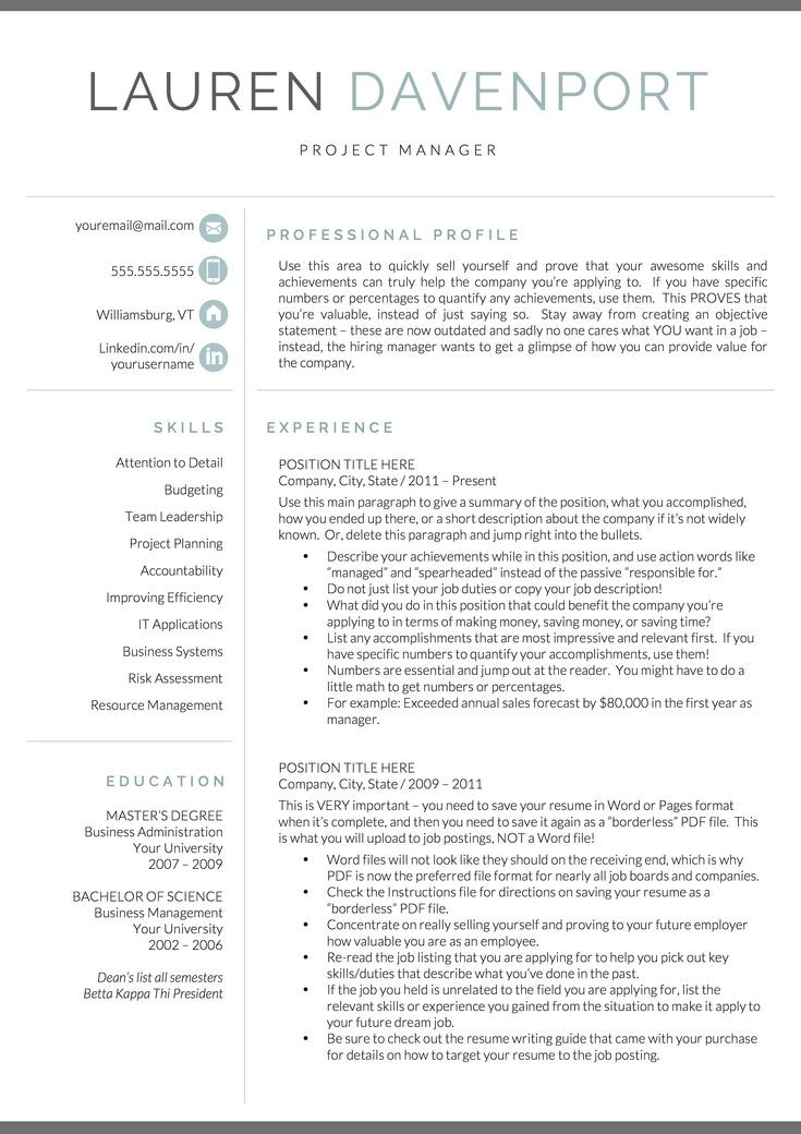 1367 modern resume template for word pages free