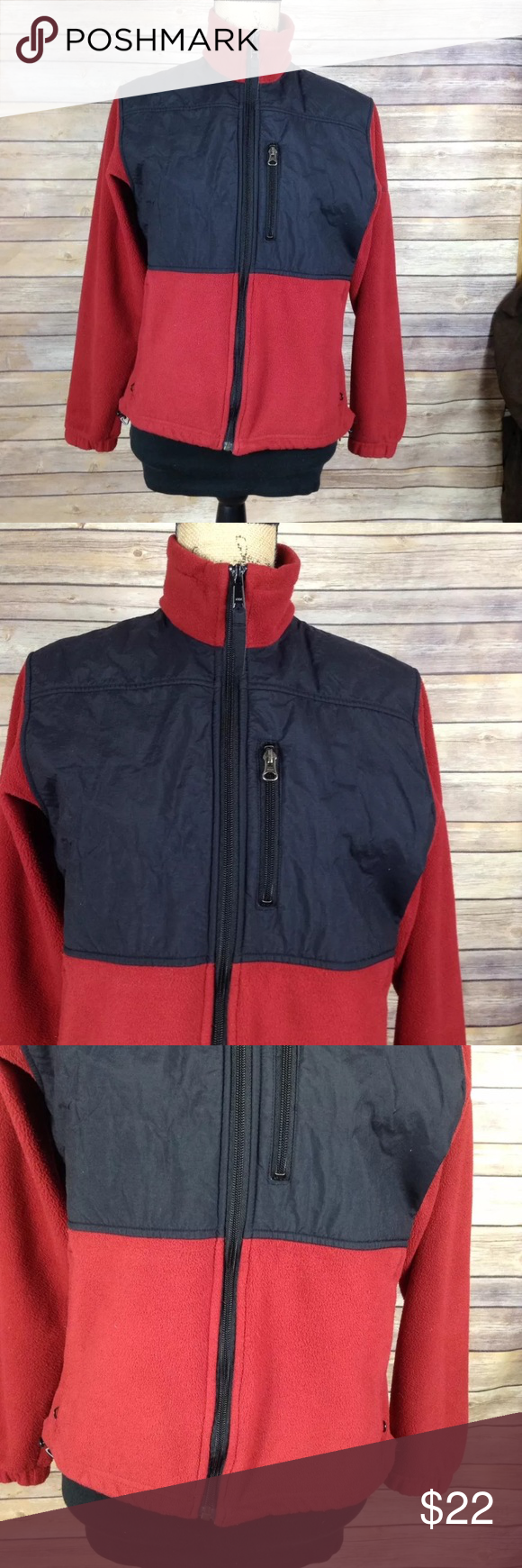 Columbia Sportswear red and black fleece jacket. Pre-owned ...