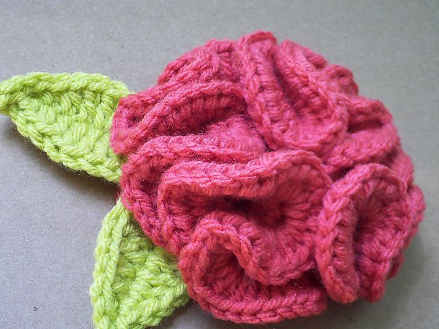 Ruffle Rose Corsage Pattern By Grace Ann Crochet Pinterest