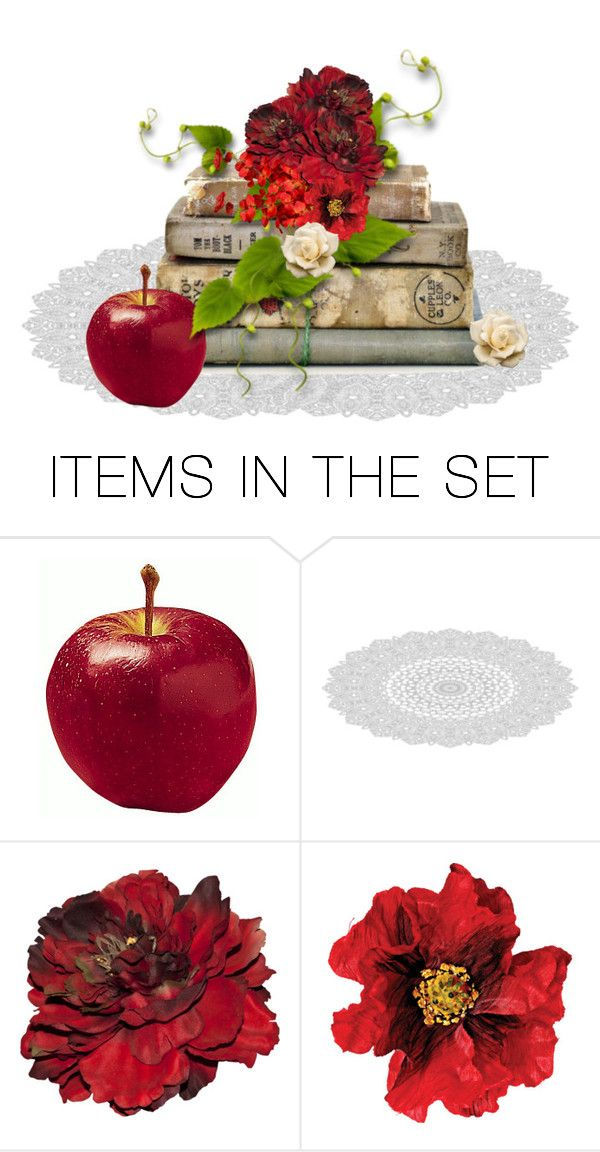 """""""Apple For The Teacher"""" by sjlew ❤ liked on Polyvore featuring art"""