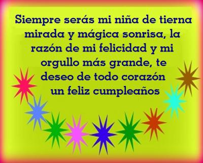 Postales De Cumpleaños Para Una Hija Que Esta Lejos Poemas De Cumpleaños Fraces Para Cumpleaños Postales De Feliz Cumpleaños