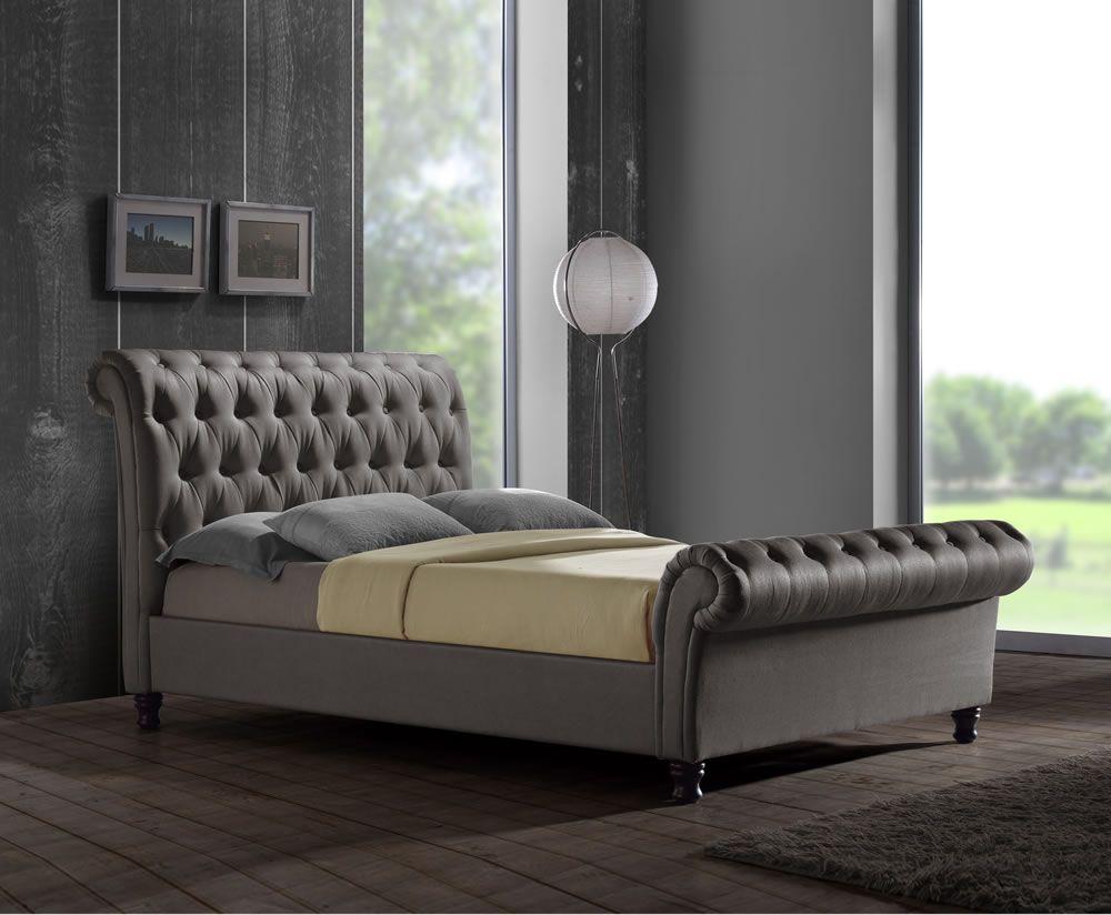 francesco grey upholstered bed frame grey upholstered bed bed
