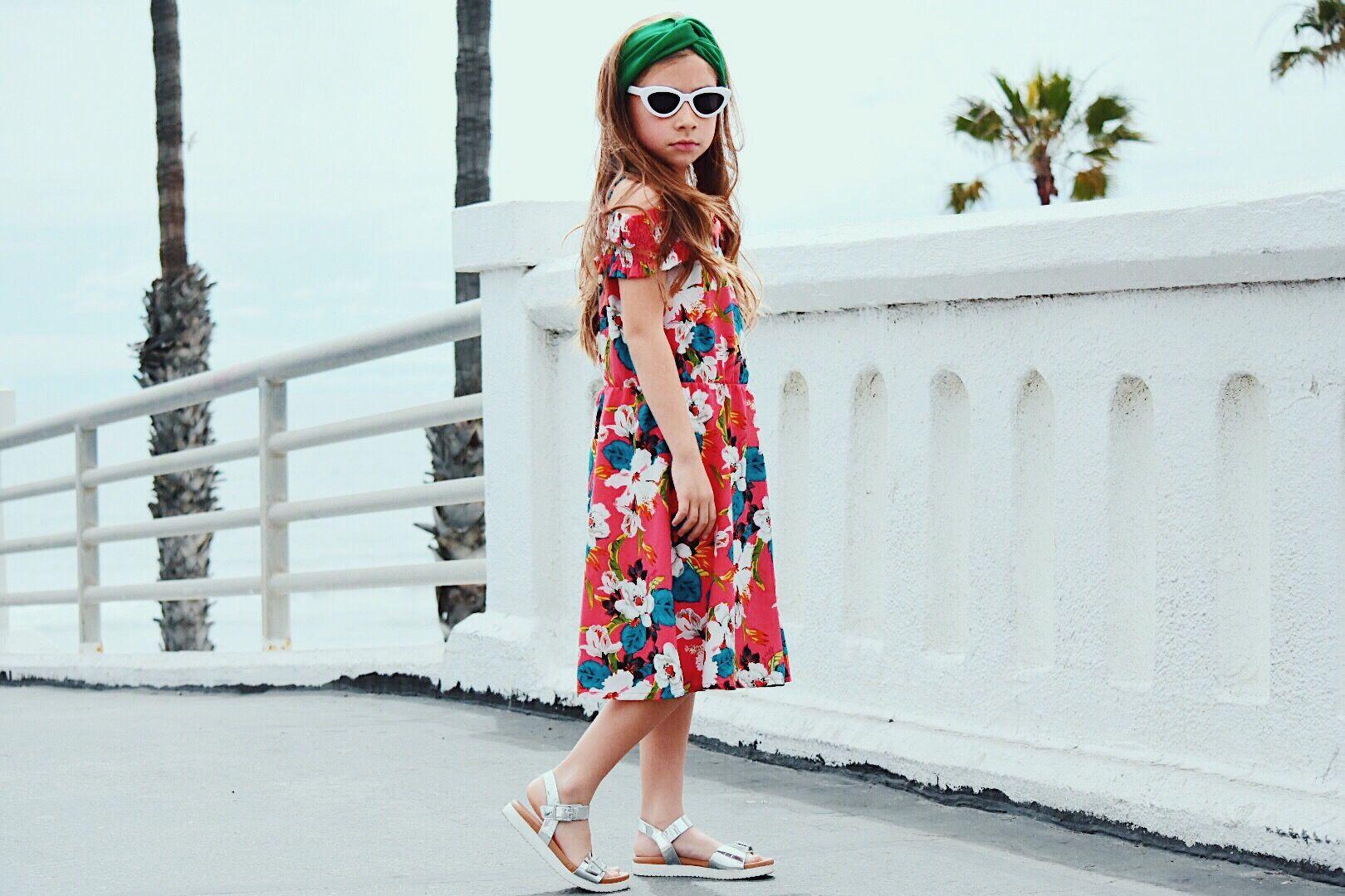 94d053a58d53 Summer Ready ☀ Dress  Guess Kids Sandals  Nina Kid Shoes Headband   Forever  21 Sunnies  HM kids Fashionista