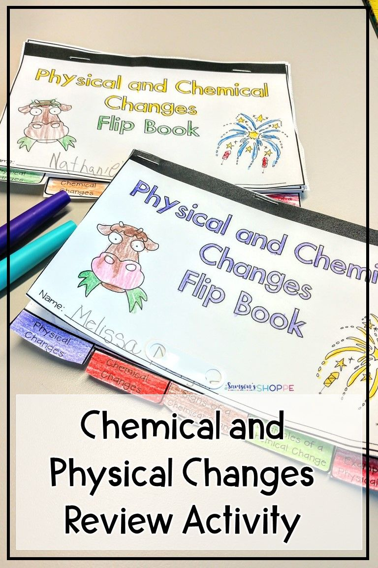 Chemical And Physical Changes Activity In 2020 Chemical And Physical Changes Physical Changes Activities Physical Changes Experiments