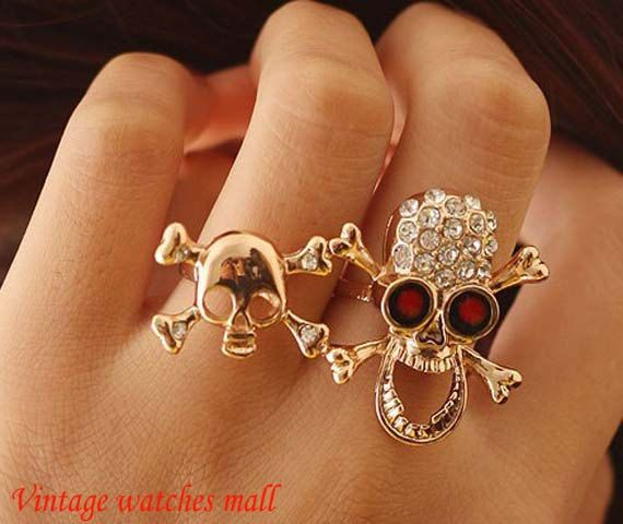 Personality with drilling skull skeleton by Vintagewatchesmall, $3.99