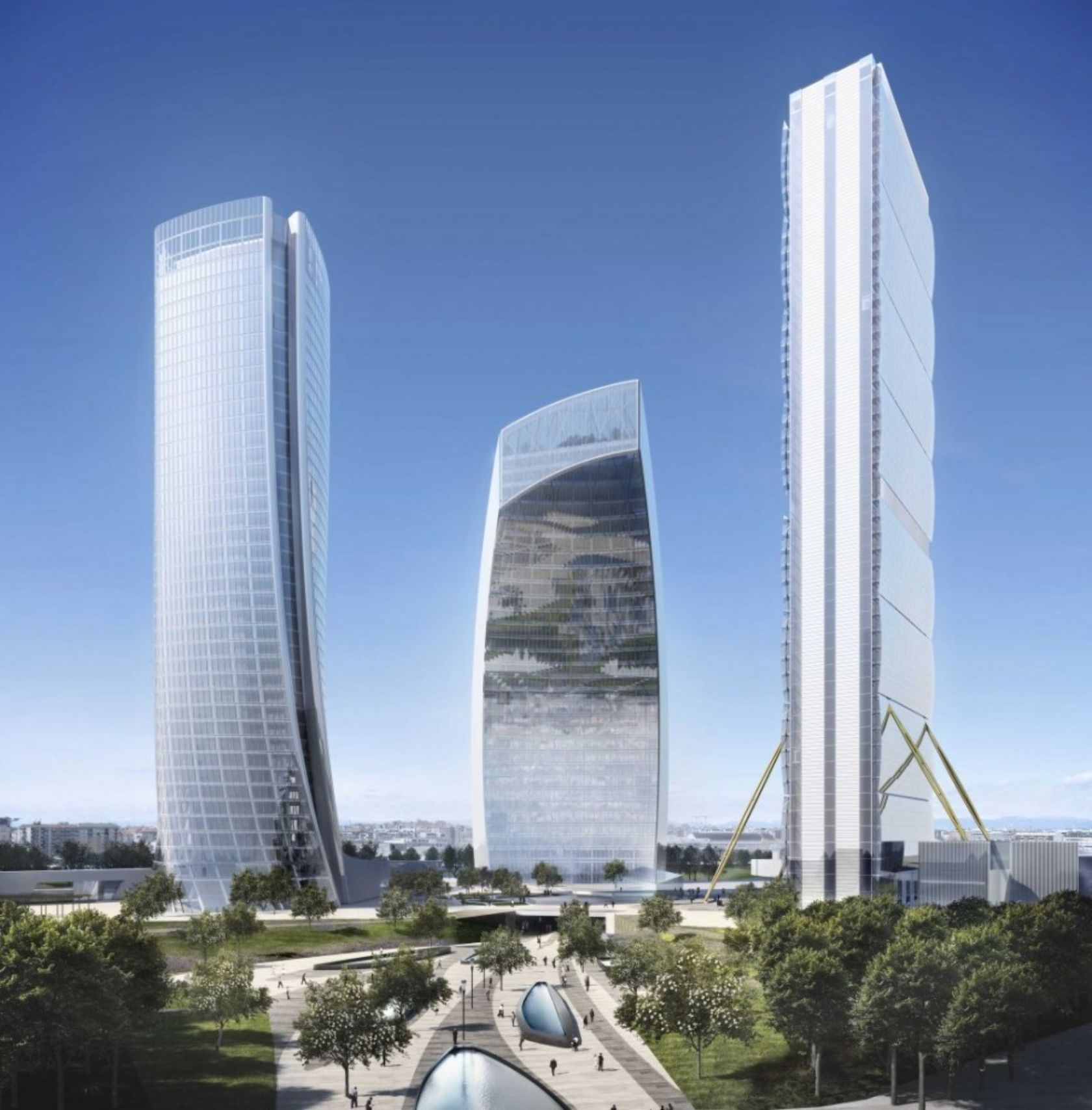 Zahas And Libeskinds Citylife Milano Is Big Brand Architecture At Its
