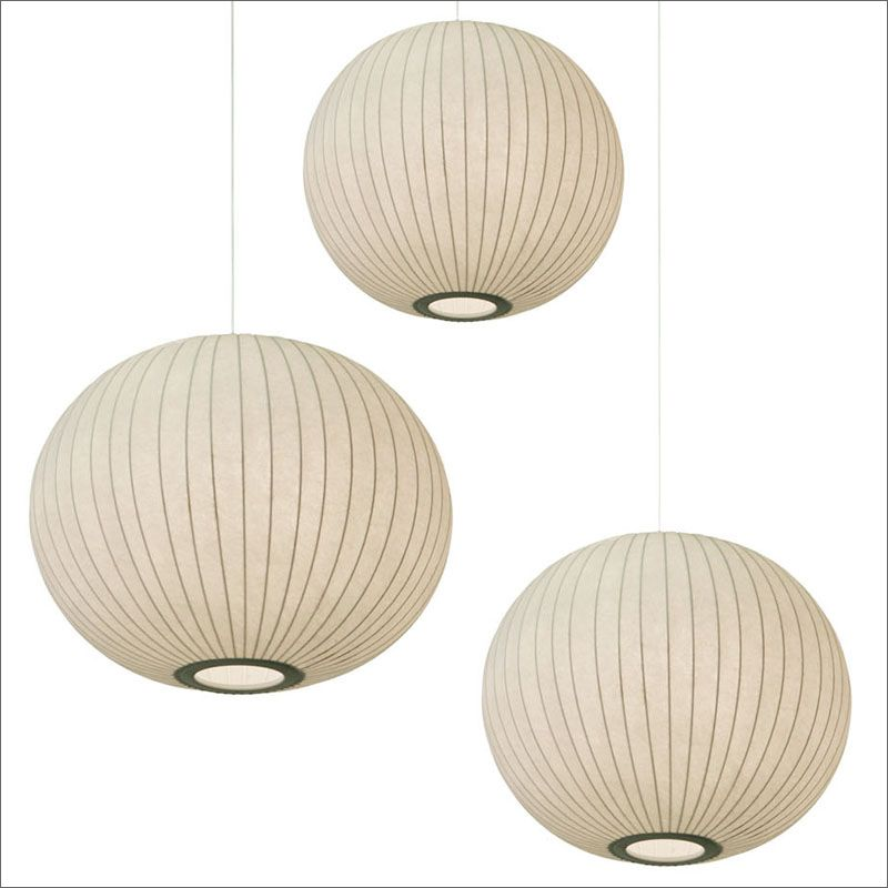 Contemporary 204 $ Modern Ball Lamp Bubble Lamps silk pendant light suspension lighting small medium large E27 bulb in Pendant Lights from Lights & Lighting on - New small lantern pendant light Luxury