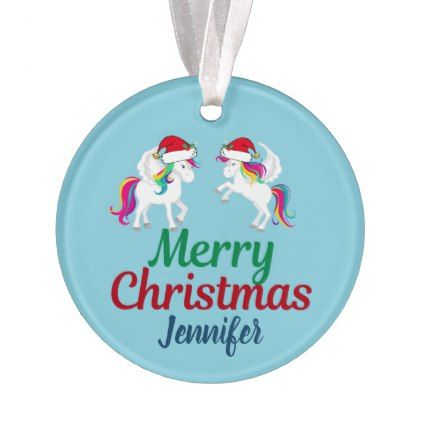cute merry christmas unicorn ornament xmas christmaseve christmas eve christmas merry xmas family kids gifts