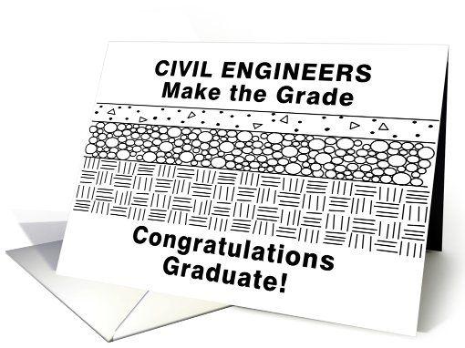 Funny Civil Engineering Graduation card