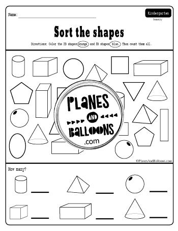 Free Printable 3d Shapes Worksheets For Kindergarten In 2020 Shapes Worksheets 3d Shapes Worksheets Shapes Worksheet Kindergarten