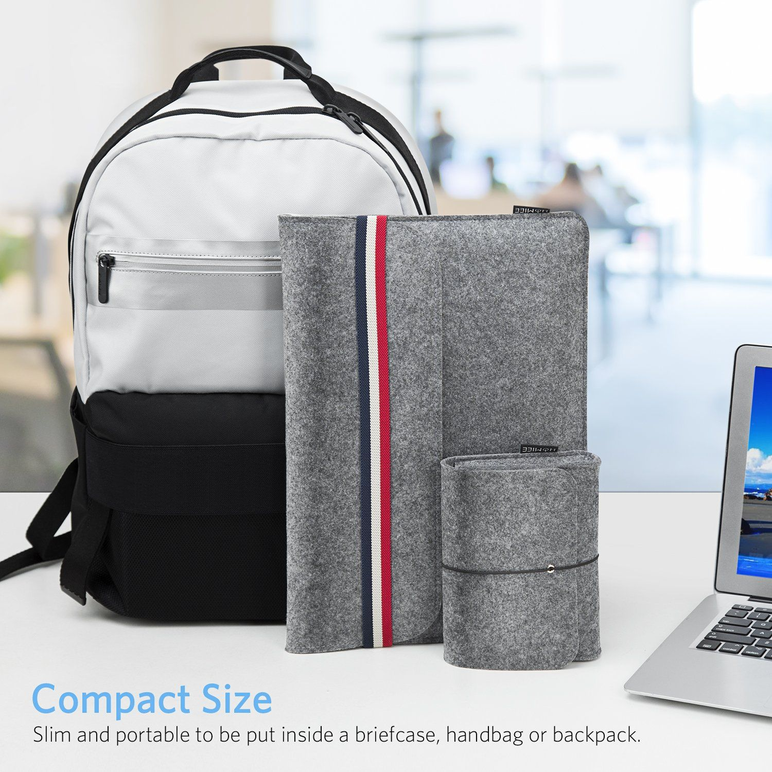 6e46b7ce2de9 Amazon.com  HOMIEE 13-13.3 Inch Laptop Sleeve Portable Protective Case for  Apple New MacBook Pro