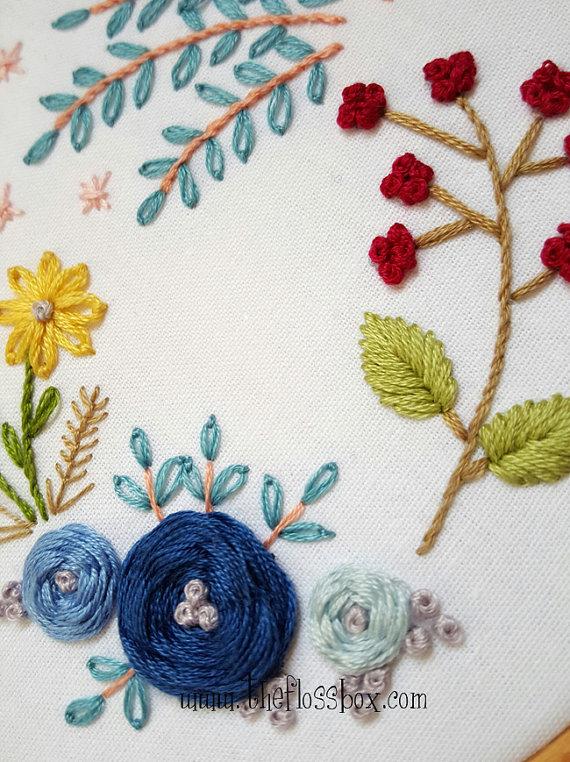 Floral Woven Wheels Embroidery Pattern Pack | Pinterest | Bordado ...
