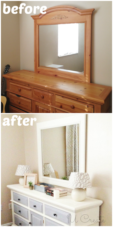 How To Use Chalk Paint Dresser Makeover U Create Furniture Makeover Redo Furniture Refurbished Furniture
