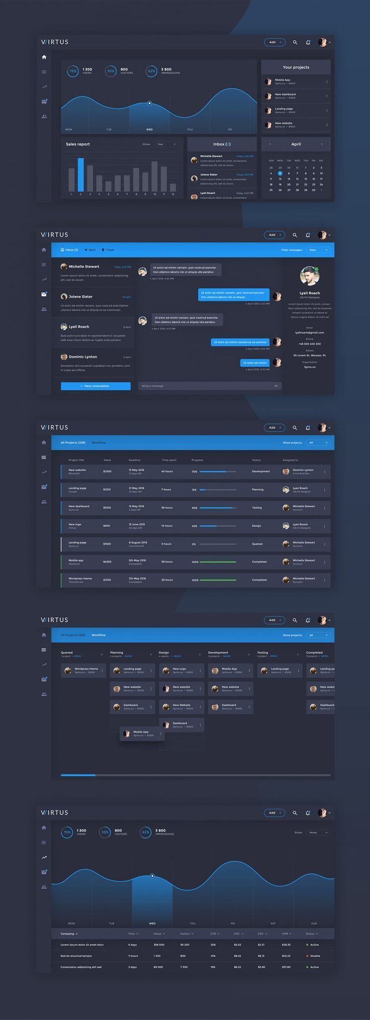 This poat showcases the best collection of free dashboard ui design psd, you can... - Entwurf #interfacedesign