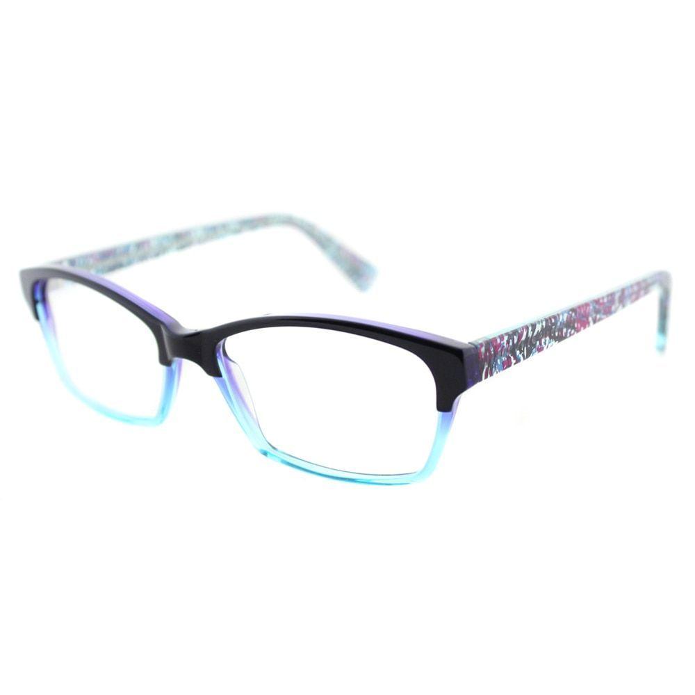 Jean lafont eyeglasses frames - Lafont Opera 310 Dark And Transparent Aqua Rectangle 53mm Eyeglasses