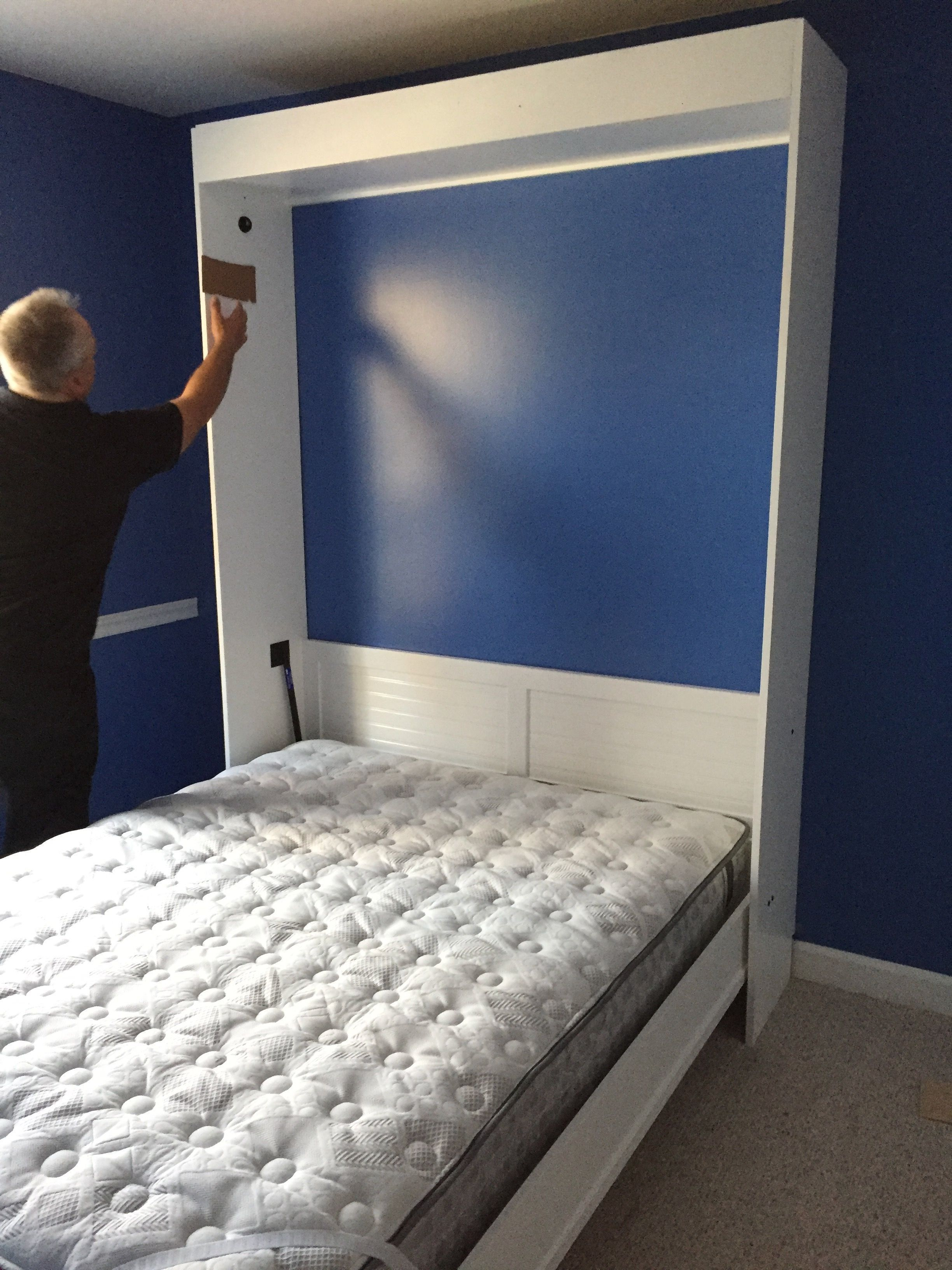 queen size murphy bed opened for the first time murphy bed ideas