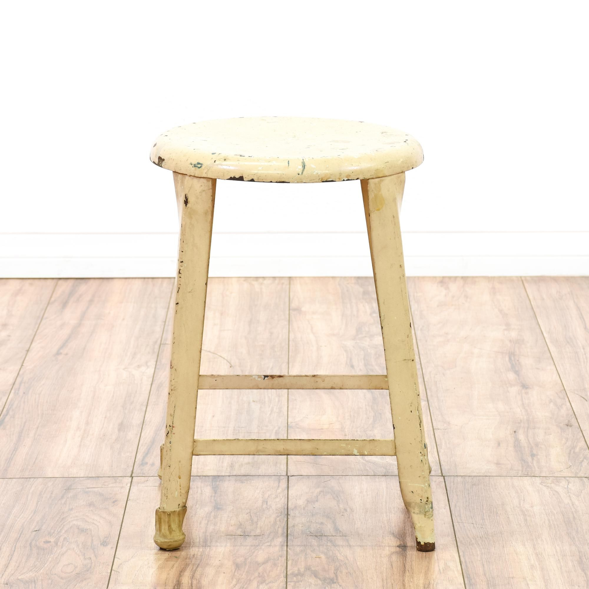 distressed industrial milking stool chairs stools and style