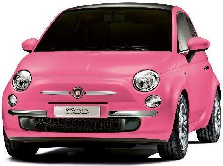 ショッキングピンクのフィアット500 日本で50台を限定販売 フィアット500 フィアット ピンクの車