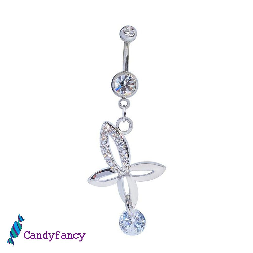 Belly button piercing healing time  Flowre crystal dangle belly button navel ring body piercings