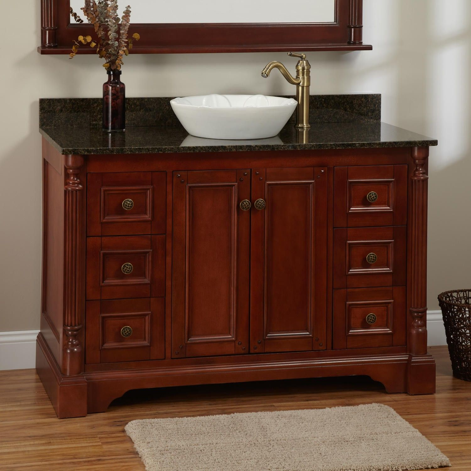 "48"" Trevett Vessel Sink Vanity Cherry"