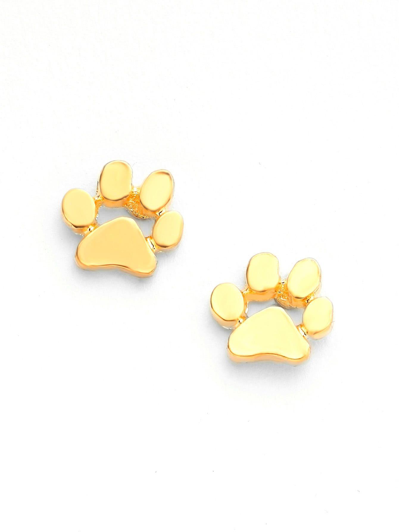 Metal Paw Cute Stud Earrings design Pinterest