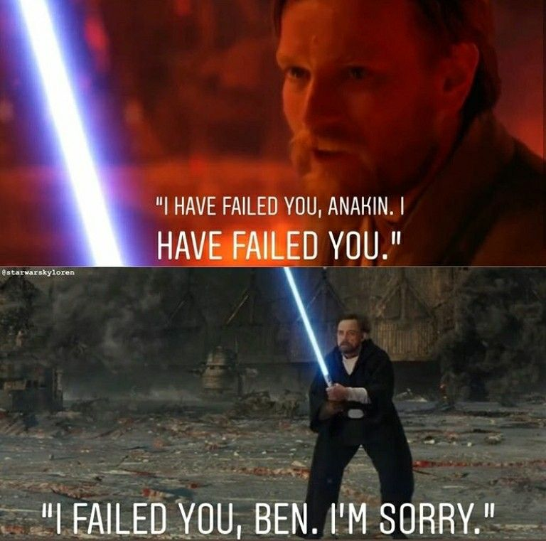 It S Not Like Obi Wan Tried To Kill Anakin In His Sleep Like Someone Else Star Wars Humor Star Wars Memes Star Wars Luke Skywalker