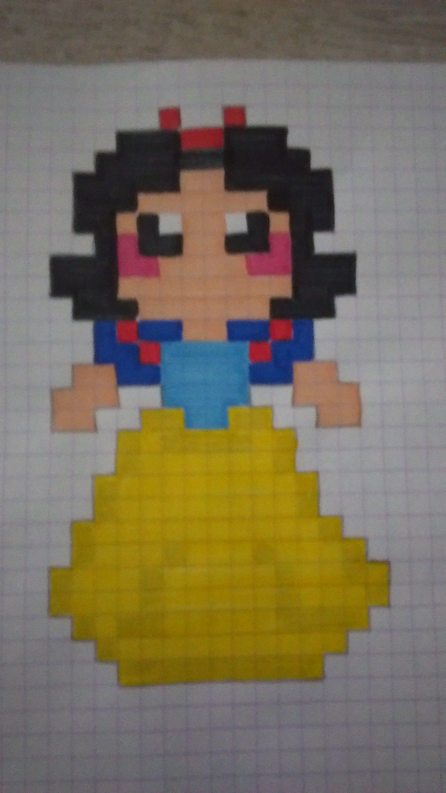 Blanche Neige En Pixel Art Disney Pixel Art Pixel Art