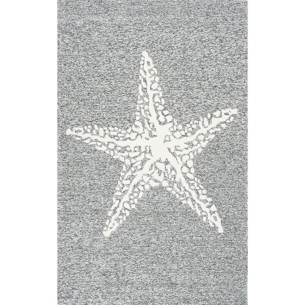 Nuloom Starfish Print Gray 8 Ft X 10 Ft Indoor Outdoor Area Rug Grey Outdoor Area Rugs Area Rugs Indoor Outdoor Area Rugs