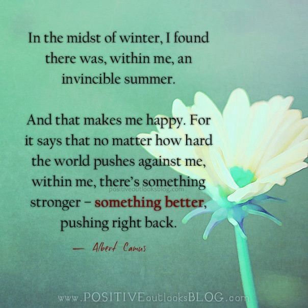 Caregiving can be a very cold, dark time much like winter.  Kindle this lovely thought and push toward the warmth.