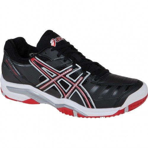 ASICS Gel Challenger 9 Men Black/Fiery Red/Silver Tennis Shoes
