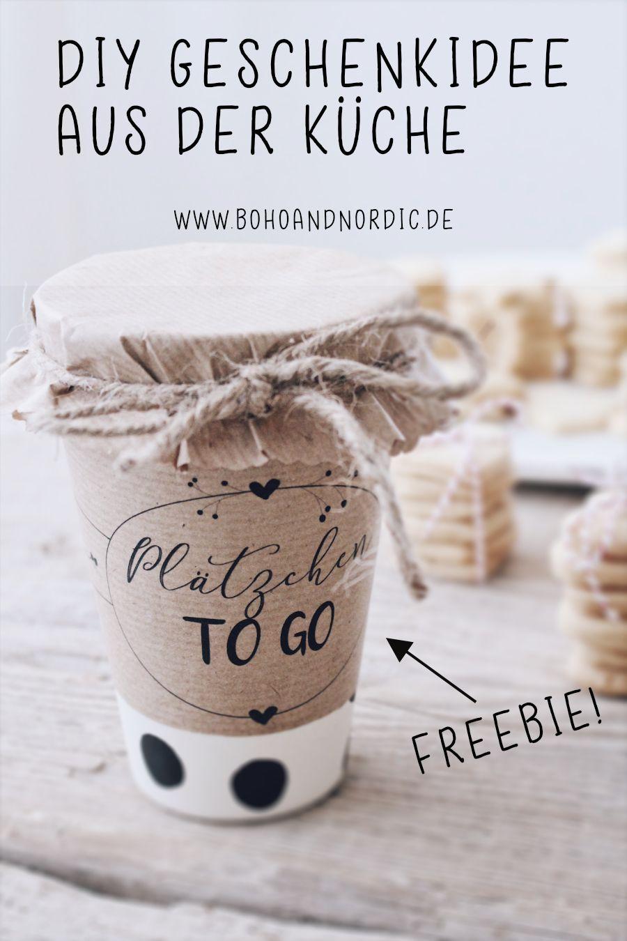 DIY Geschenkidee aus der Küche + Verpackungsidee und Freebie #diygifts