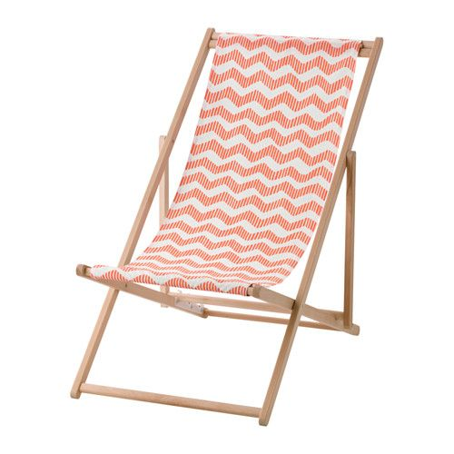 IKEA - MYSINGSÖ, Silla de playa, plegable rojo claro