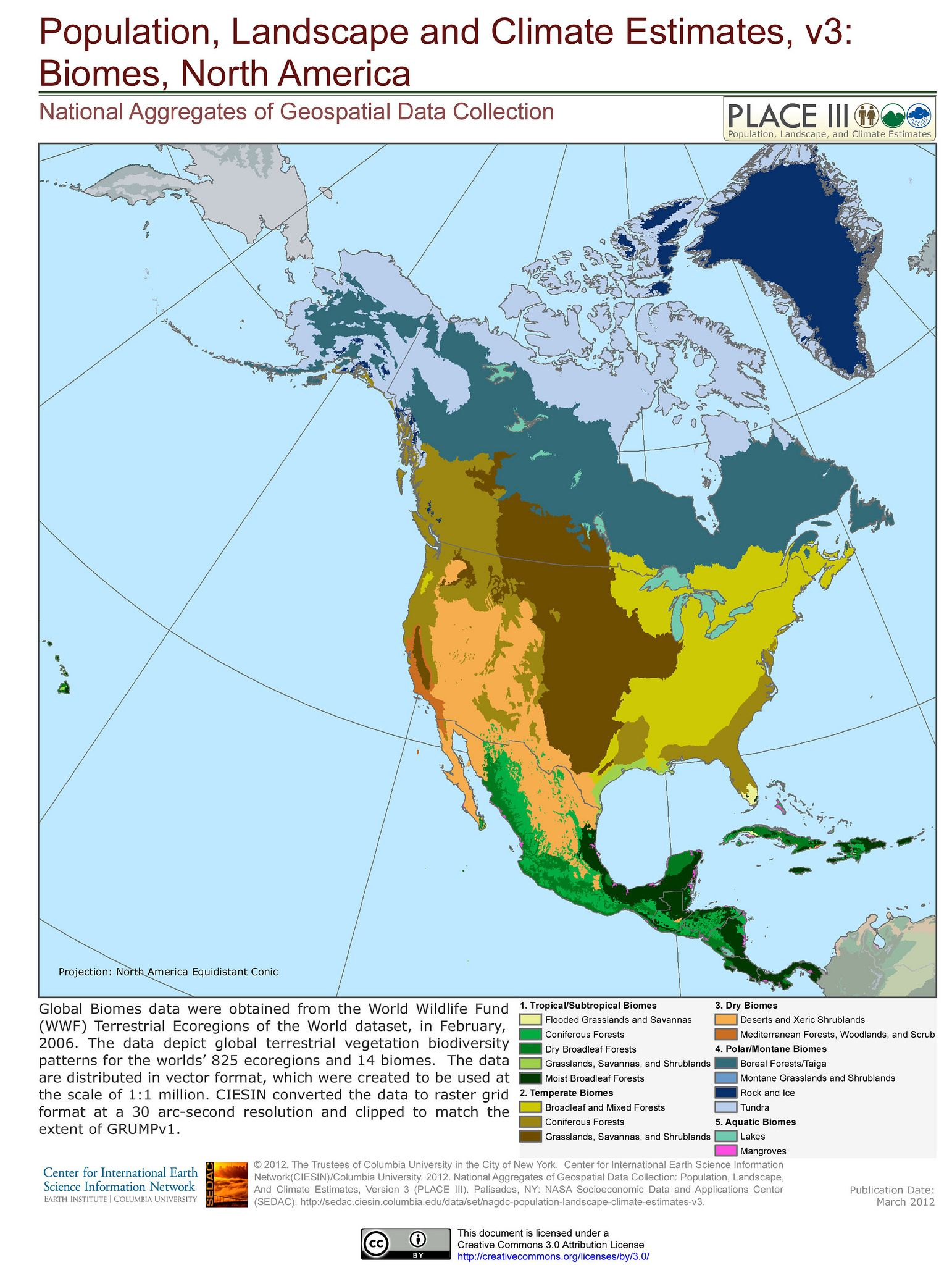 Biomes North America REF GEO regions