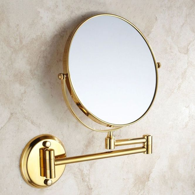 "Fresh 8"" Golden Dual Makeup Mirrors 1 1 and 1 3 Magnifier Copper Cosmetic New - Model Of magnifying makeup mirror New Design"