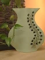Resultado de imagem para molde de jarrones de carton