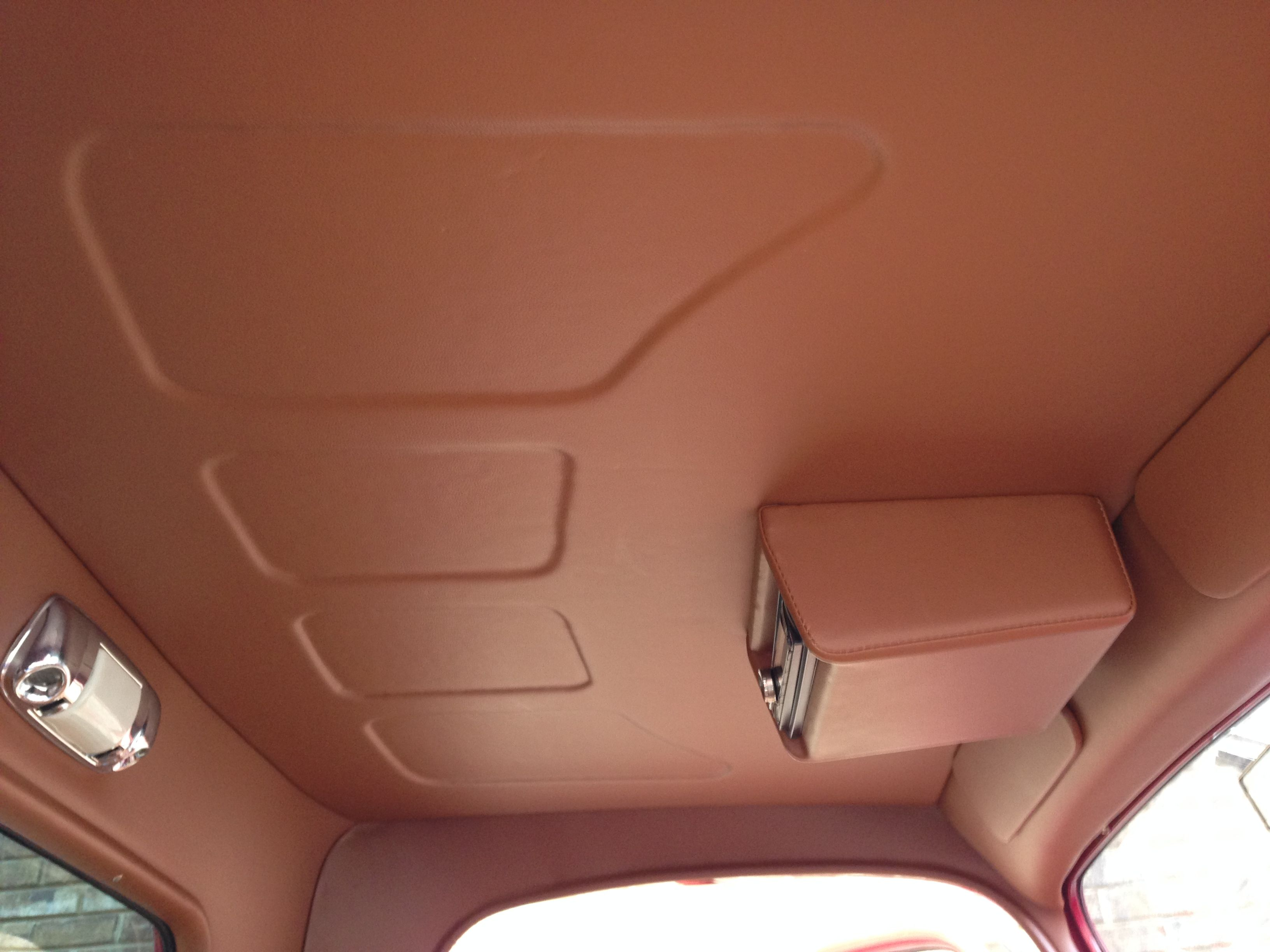1936 Ford Pick Up Truck Custom Made Headliner In Vinyl By Romero S Auto Tops Car Interior Upholstery Custom Car Interior Car Interior Accessories