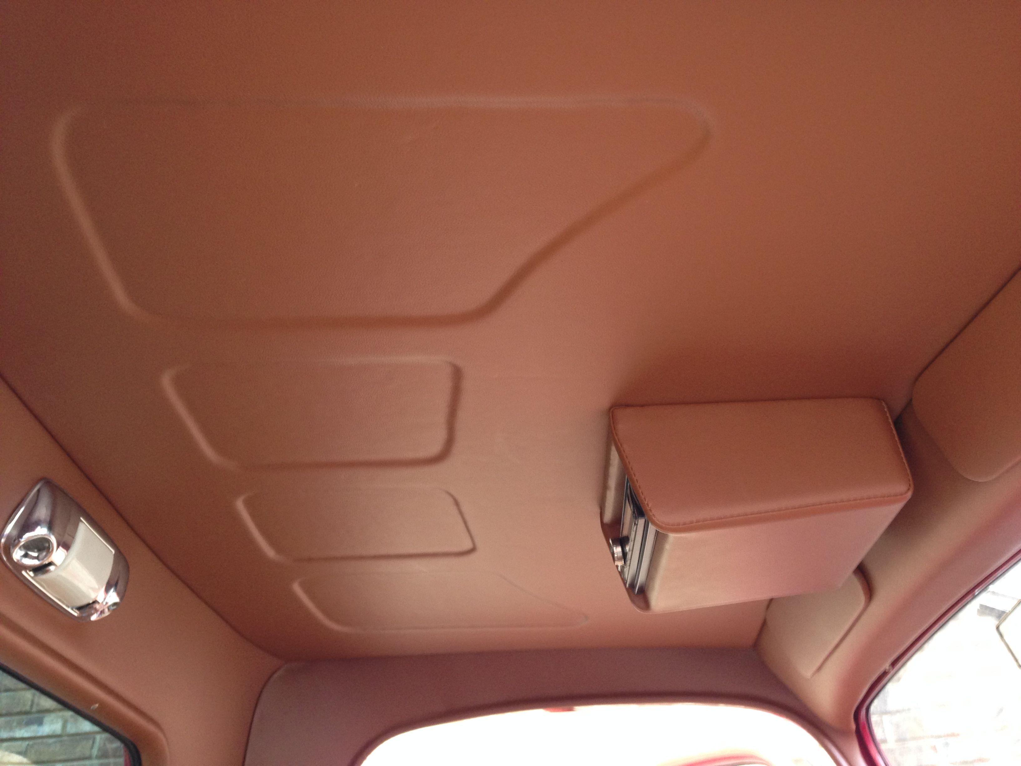 1936 Ford Pick Up Truck Custom Made Headliner In Vinyl By Romero S Auto Tops Custom Car Interior Car Interior Upholstery Car Interior Accessories
