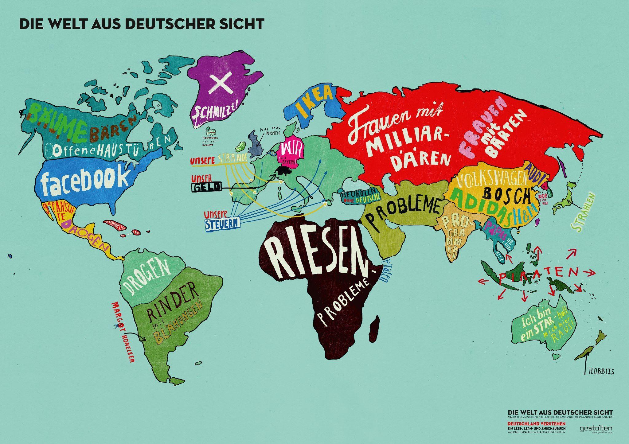 """Die Welt aus deutscher Sicht"""" offizielle Grafik des"""