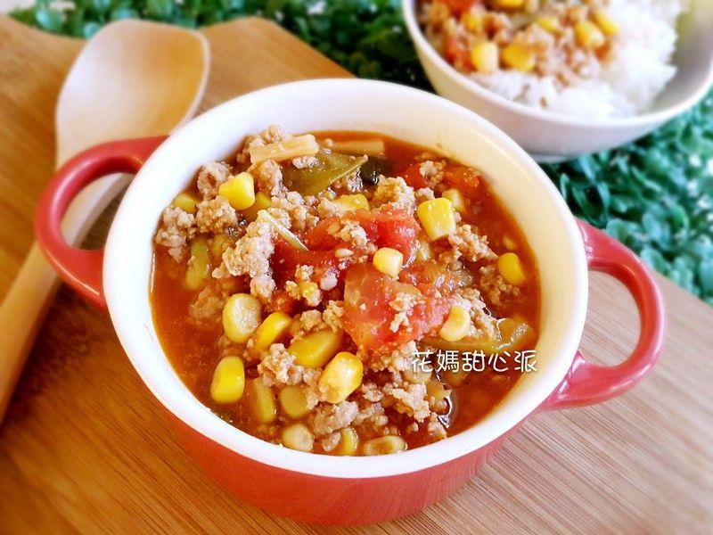 番茄玉米肉醬