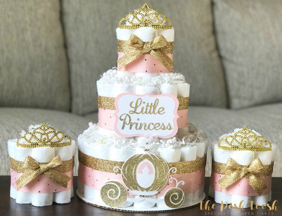 Baby Shower Cakes with Crowns