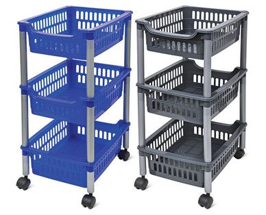 easy home 3tier rolling cart