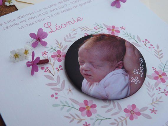 50 invitations birth badge and cartel