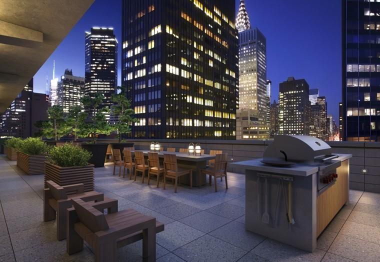 Penthouse Terrasse Dekoration - Moderne Hochhäuser Garten Unddie 19 ...