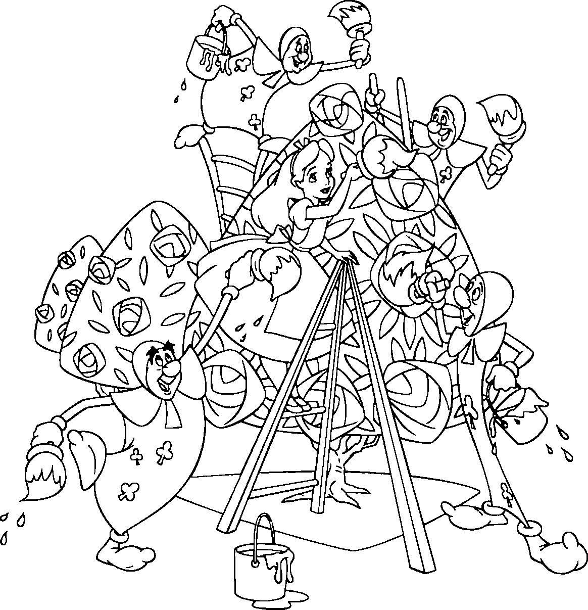 Alice in wonderland coloring pages alice in wonderland ...