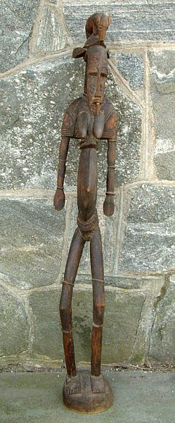 antique african fertility statue