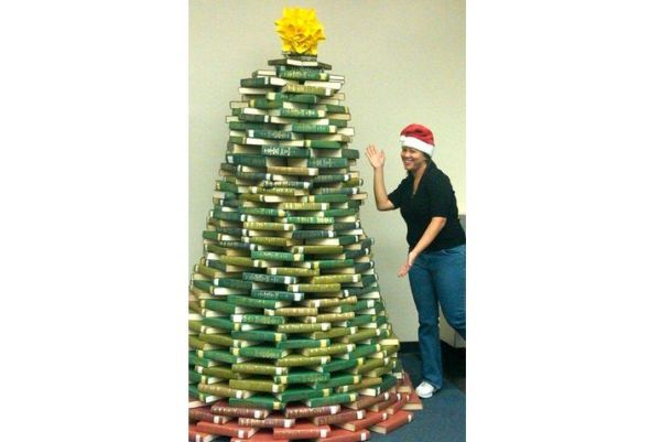 Great At Inglewood Public Library, There Is One Of The Most Innovative And  U0027greenu0027 Christmas Tree That Could Ever Be Erected And Then Dissembled For  Reuse, ...