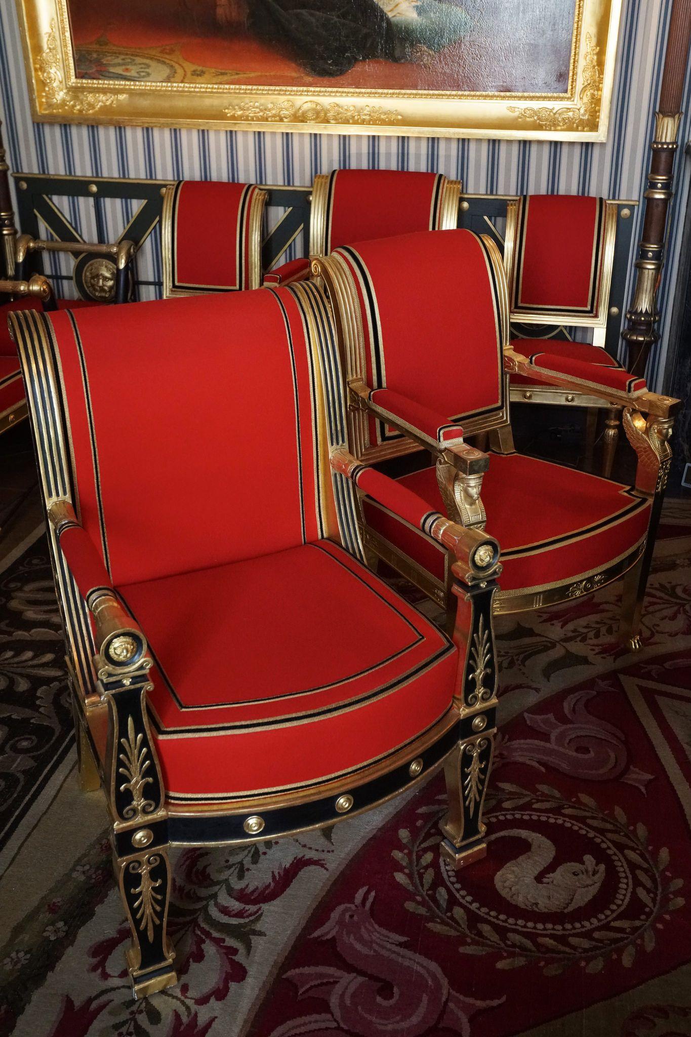 Armchairs Chateau Malmaison Malmaison French Style Furniture Historical Interior